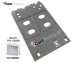 PVC INKJET CARD TRAY  FOR CANON J TRAY PRINTERS WITH 50 BLANK PVC INKJET CARDS